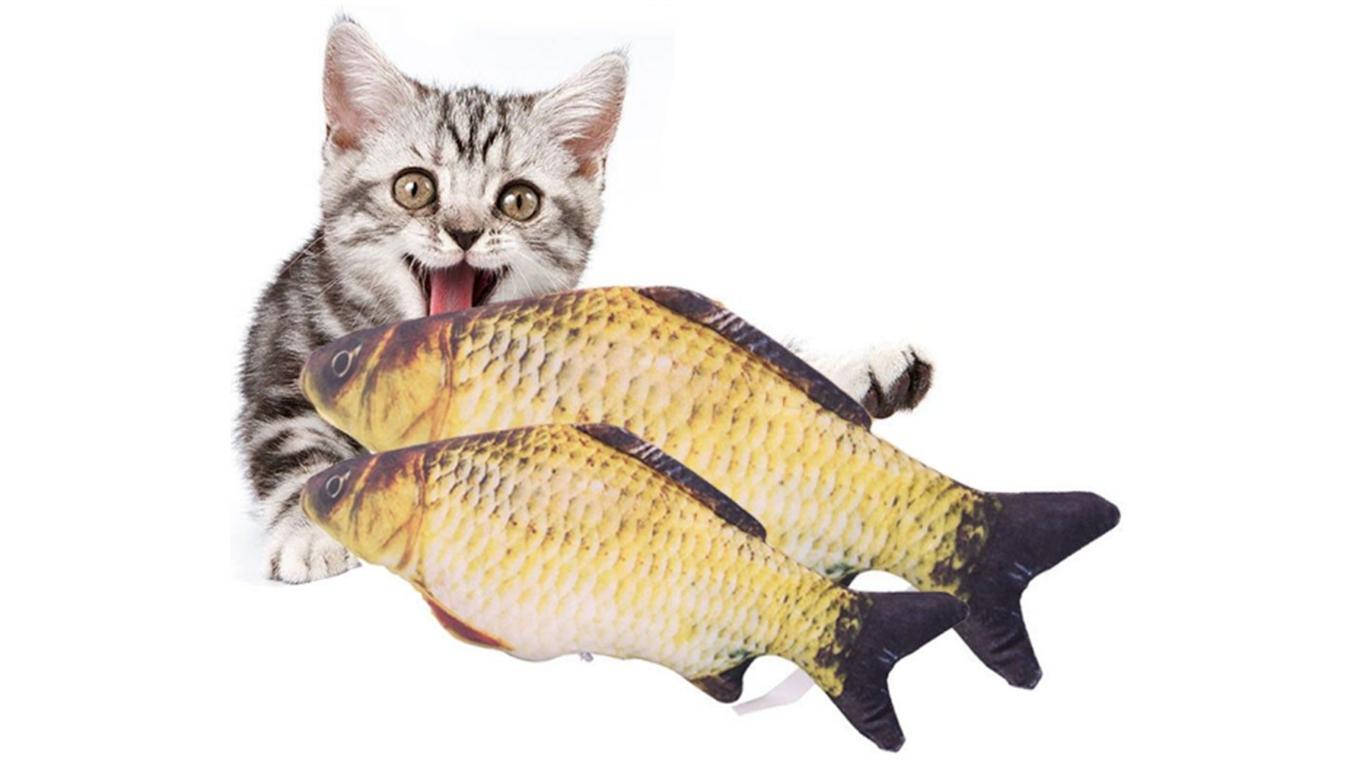 Boneka ikan yang diisicatnip
