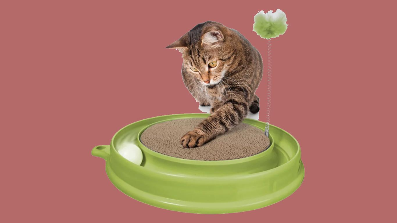 Mainan kucing Catit Play 'n' Scratch