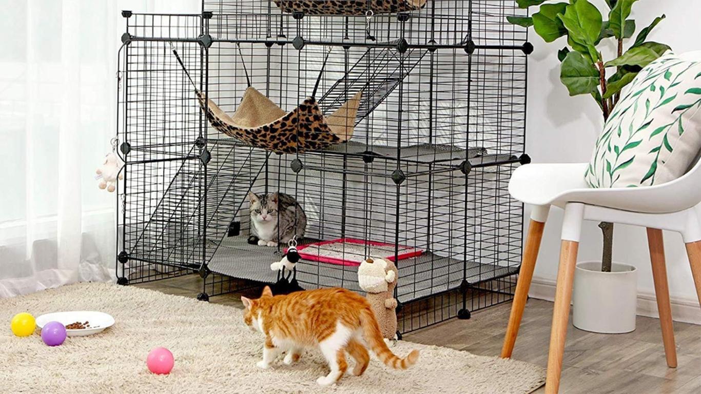 kandang kucing tingkat